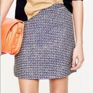J Crew skirt size 2... cream, navy, purple